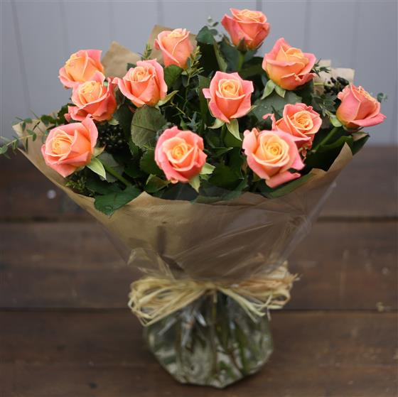 Ginger Lily Collection - Rose Bouquet in Orange