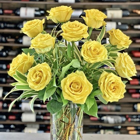 Ginger Lily Collection - Rose Bouquet in Yellow