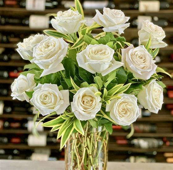 white roses brighton florist ginger lily florists 01273 504904