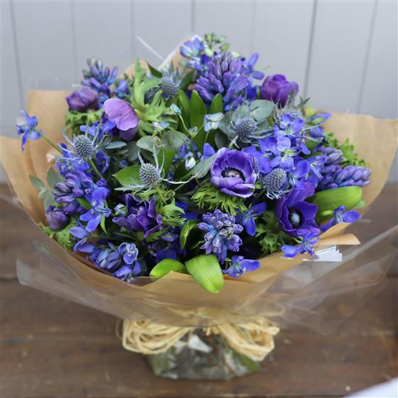 Ginger Lily Flowers - Lovely Blue Bouquet